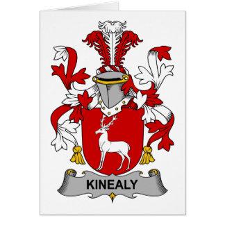 Escudo de la familia de Kinealy Tarjeta De Felicitación