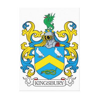 Escudo de la familia de Kingsbury Impresión En Tela