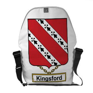 Escudo de la familia de Kingsford Bolsas De Mensajeria