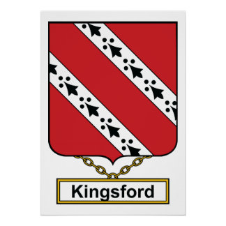 Escudo de la familia de Kingsford Póster