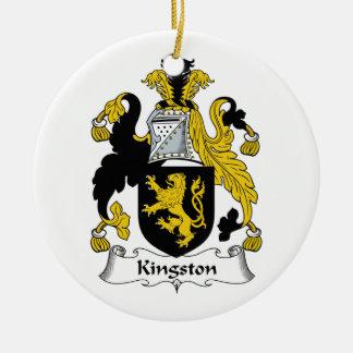 Escudo de la familia de Kingston Adorno Redondo De Cerámica