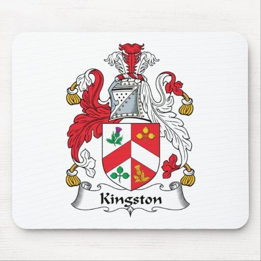 Escudo de la familia de Kingston Tapetes De Raton