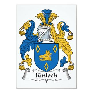 """Escudo de la familia de Kinloch Invitación 5"""" X 7"""""""