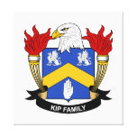 Escudo de la familia de Kip Impresión En Lona
