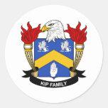 Escudo de la familia de Kip Pegatina Redonda