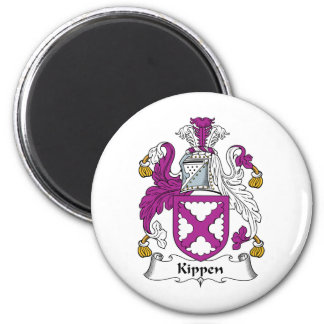 Escudo de la familia de Kippen Imán Redondo 5 Cm