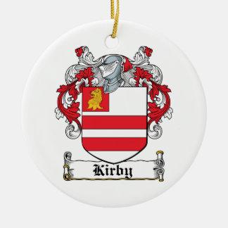 Escudo de la familia de Kirby Adorno Navideño Redondo De Cerámica