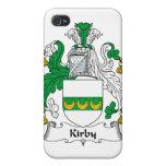 Escudo de la familia de Kirby iPhone 4 Protectores