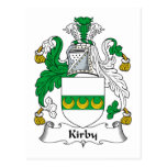 Escudo de la familia de Kirby Postales