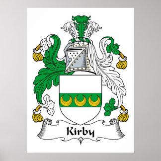 Escudo de la familia de Kirby Póster