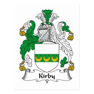 Escudo de la familia de Kirby Tarjeta Postal