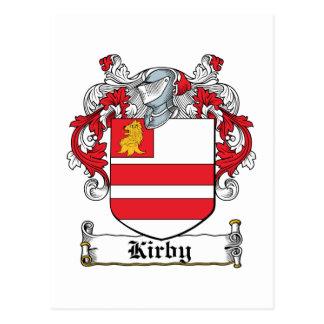 Escudo de la familia de Kirby Tarjetas Postales