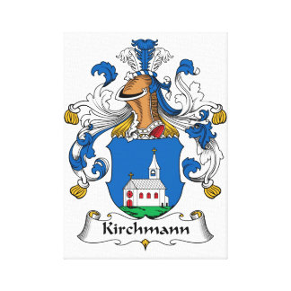 Escudo de la familia de Kirchmann Lona Envuelta Para Galerias