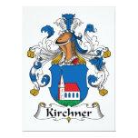 Escudo de la familia de Kirchner Invitación 16,5 X 22,2 Cm
