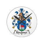 Escudo de la familia de Kirchner Reloj De Pared