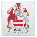Escudo de la familia de Kirkby Servilletas