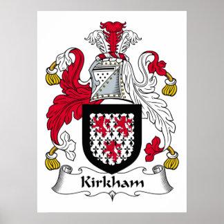 Escudo de la familia de Kirkham Póster