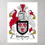 Escudo de la familia de Kirkham Posters