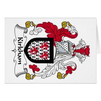 Escudo de la familia de Kirkham Tarjeton