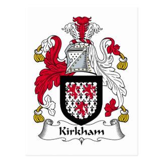 Escudo de la familia de Kirkham Postal