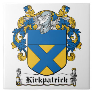 Escudo de la familia de Kirkpatrick Azulejo Cuadrado Grande