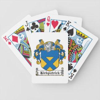 Escudo de la familia de Kirkpatrick Baraja Cartas De Poker