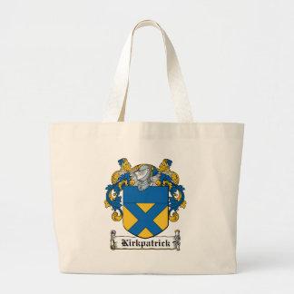 Escudo de la familia de Kirkpatrick Bolsa Tela Grande