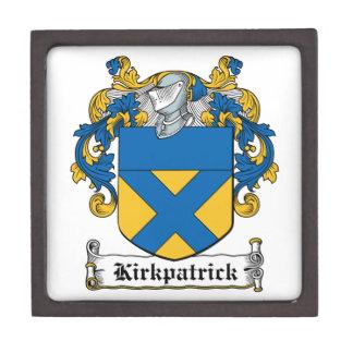 Escudo de la familia de Kirkpatrick Caja De Recuerdo De Calidad
