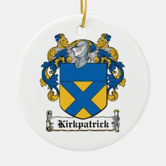 Escudo de la familia de Kirkpatrick Adorno Redondo De Cerámica