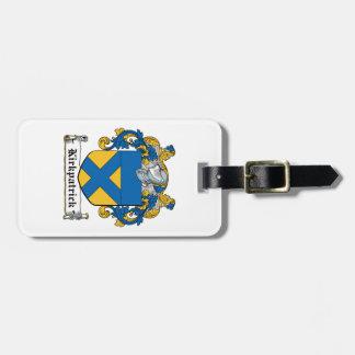 Escudo de la familia de Kirkpatrick Etiqueta Para Maleta