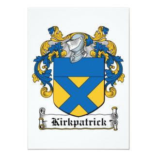 """Escudo de la familia de Kirkpatrick Invitación 5"""" X 7"""""""