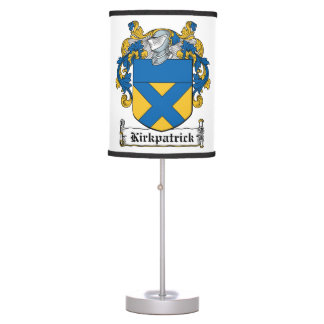 Escudo de la familia de Kirkpatrick Lámpara De Mesa