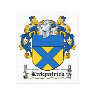Escudo de la familia de Kirkpatrick Impresión En Lona