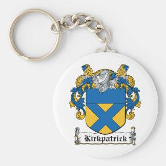 Escudo de la familia de Kirkpatrick Llavero Redondo Tipo Pin