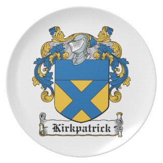 Escudo de la familia de Kirkpatrick Plato
