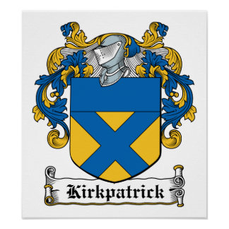 Escudo de la familia de Kirkpatrick Póster