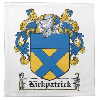 Escudo de la familia de Kirkpatrick Servilletas