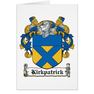 Escudo de la familia de Kirkpatrick Tarjeta De Felicitación