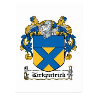 Escudo de la familia de Kirkpatrick Tarjetas Postales