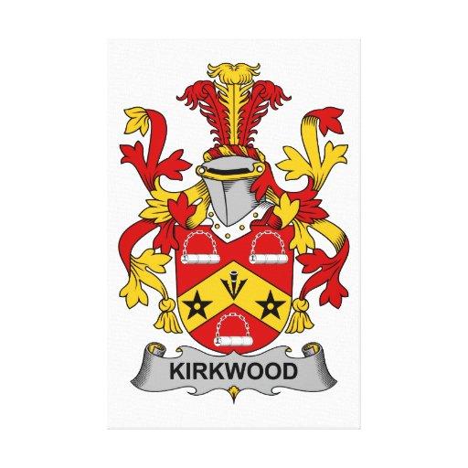 Escudo de la familia de Kirkwood Lona Estirada Galerias