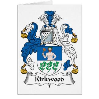 Escudo de la familia de Kirkwood Tarjeta De Felicitación