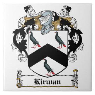 Escudo de la familia de Kirwan Azulejo
