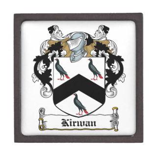 Escudo de la familia de Kirwan Cajas De Regalo De Calidad