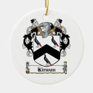 Escudo de la familia de Kirwan Adorno Redondo De Cerámica
