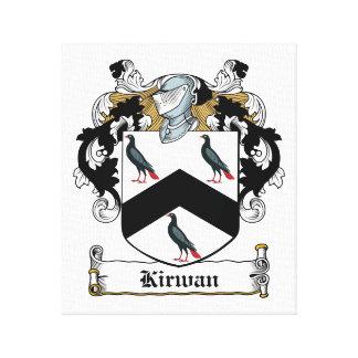 Escudo de la familia de Kirwan Impresión En Lona