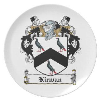 Escudo de la familia de Kirwan Plato De Cena