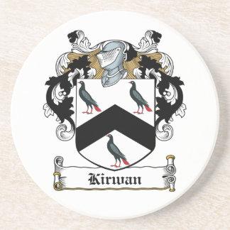 Escudo de la familia de Kirwan Posavasos Para Bebidas