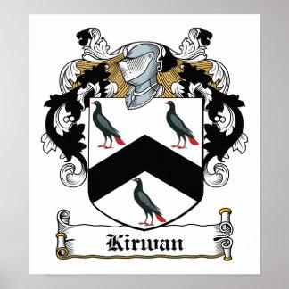 Escudo de la familia de Kirwan Poster