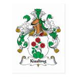 Escudo de la familia de Kissling Postal