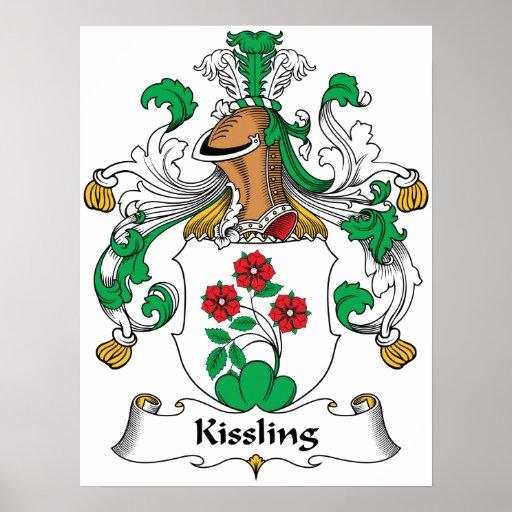 Escudo de la familia de Kissling Poster